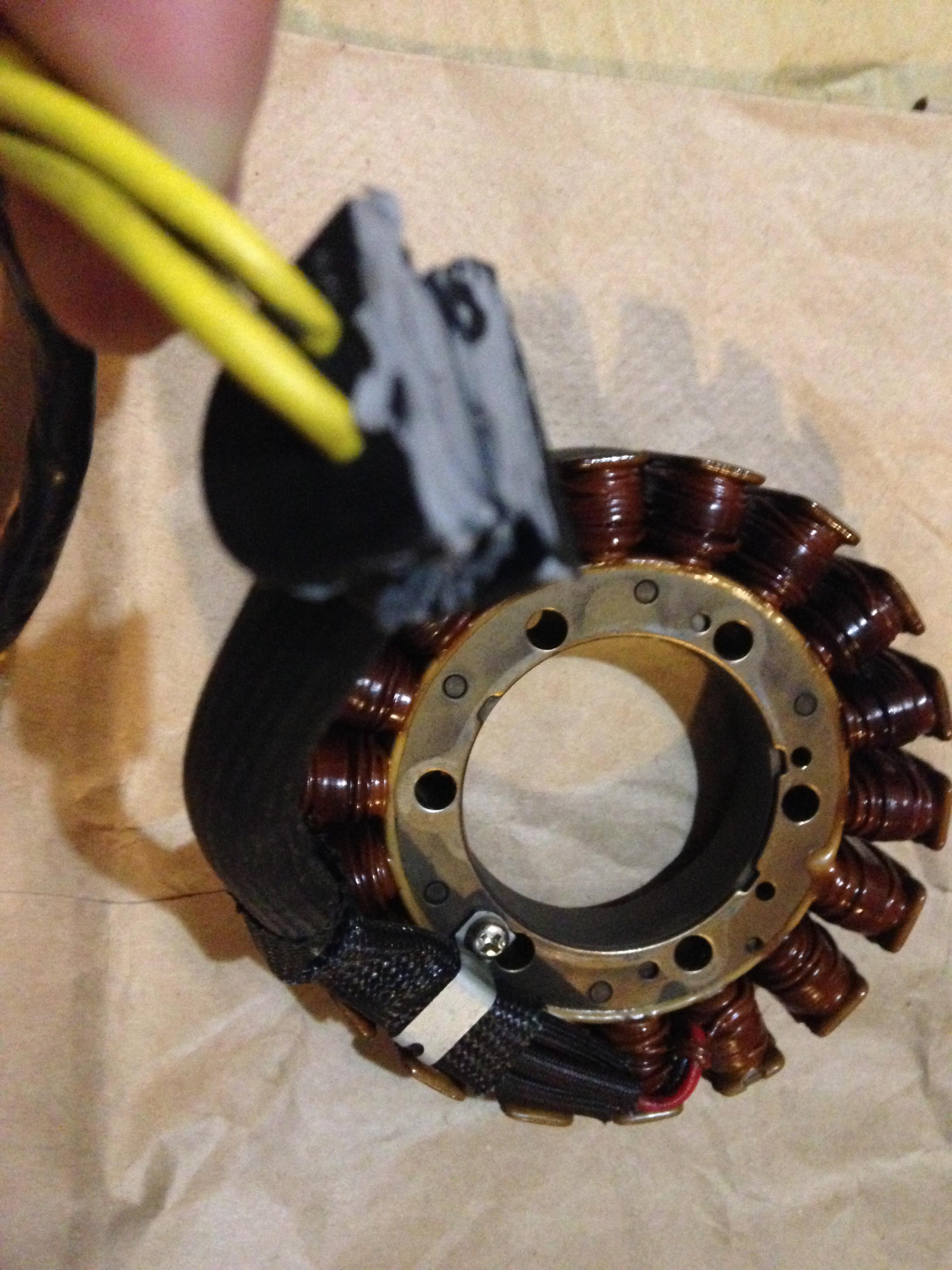 oil pushing through alternator stator wires ducati org forum the rh ducati org Alternator Wiring Schematic Alternator Wiring Schematic