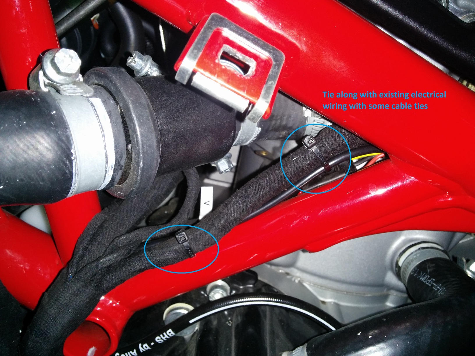 battery tender cable routing suggestions - ducati forum   the