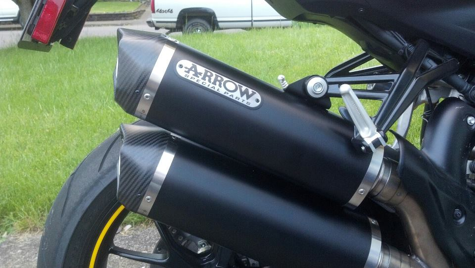 arrow dark series exhaust 848 streetfighter - ducati forum