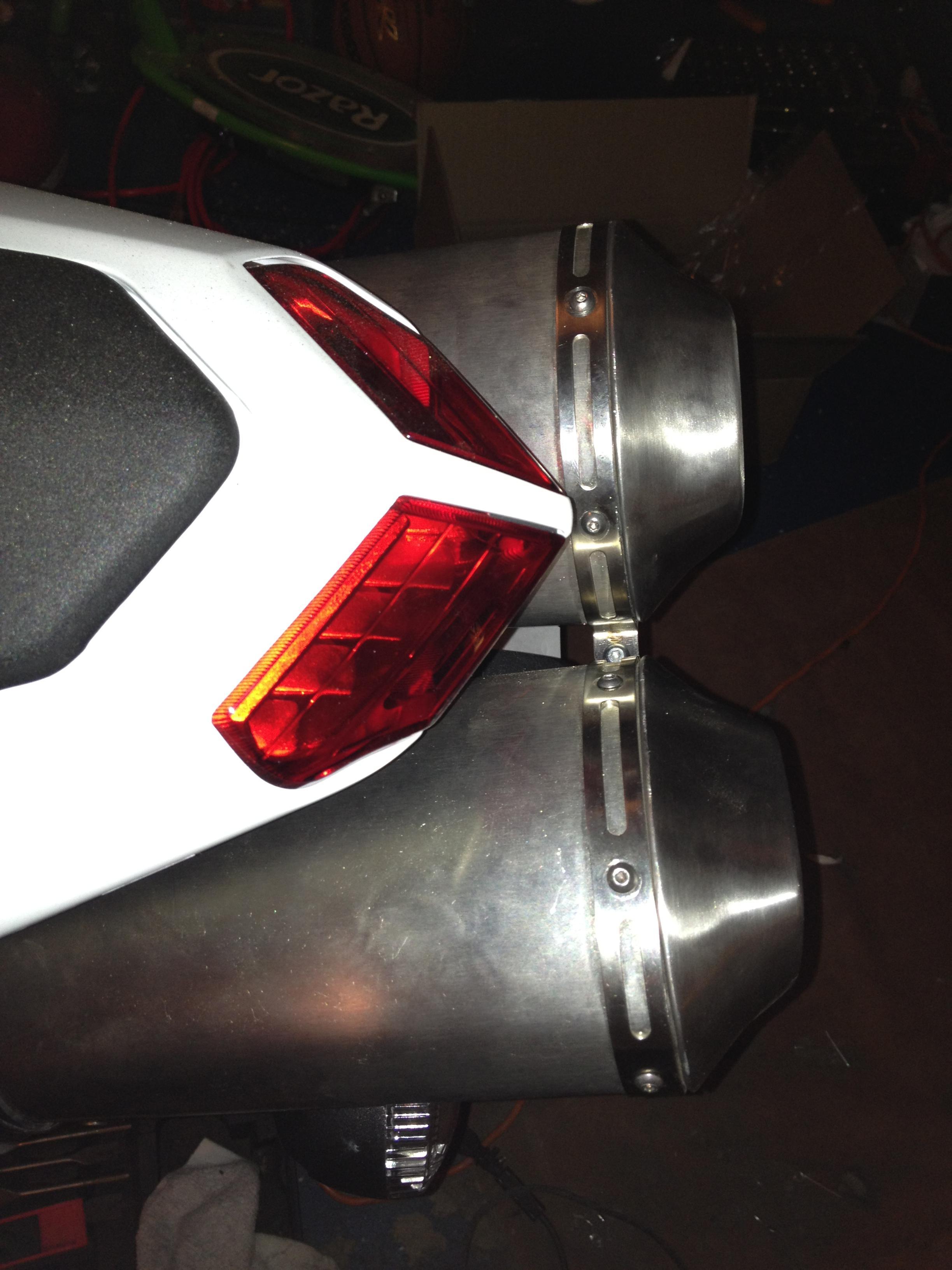 11 12 13 Ducati 848 EVO Race Baffle Kit Exhaust Muffler *Baffles*