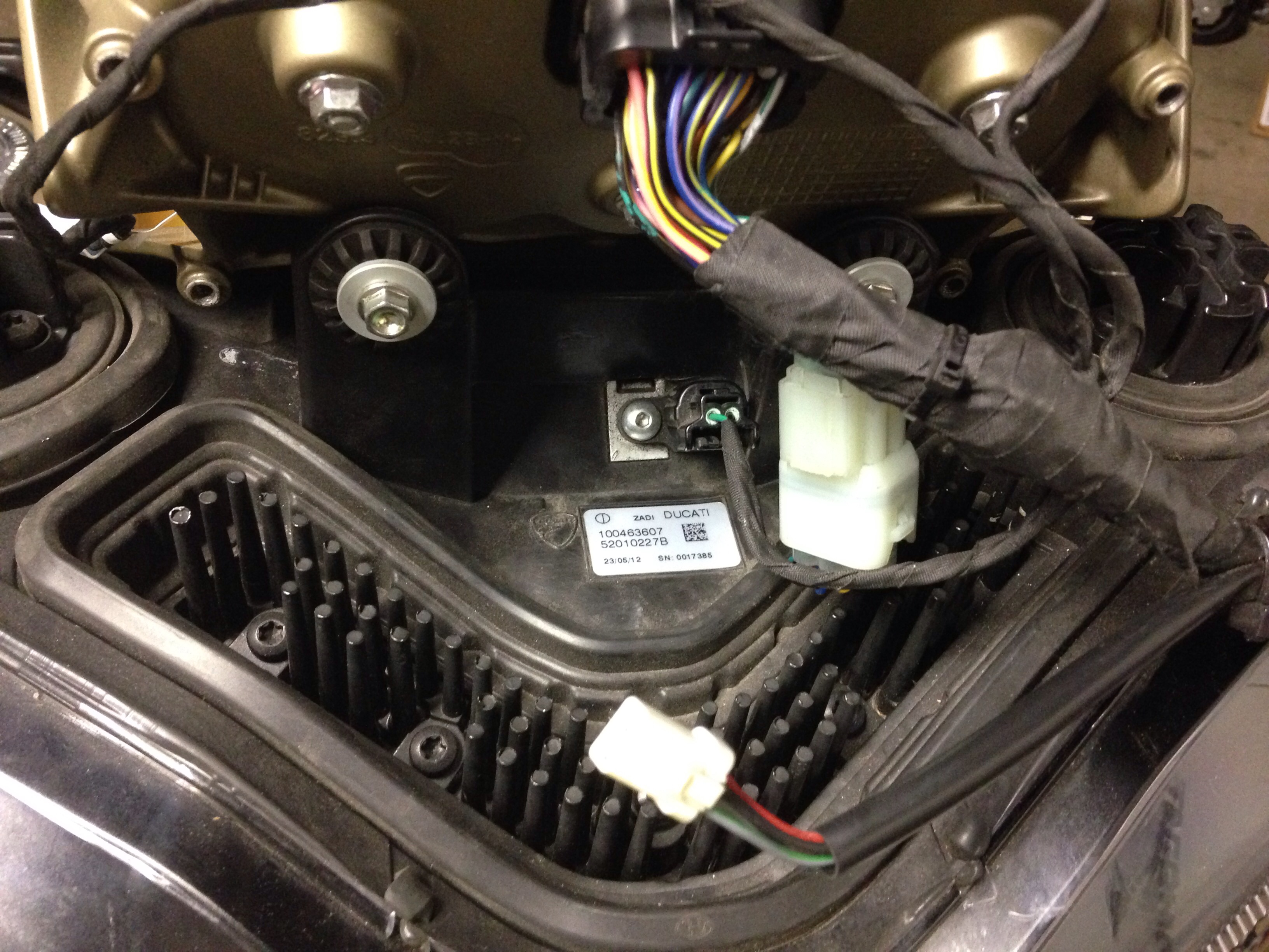 Ducati 1098 Headlight Wiring Harness Trusted Diagram 1199 Led Lights Inop Org Forum The Rh Replacement Pigtril
